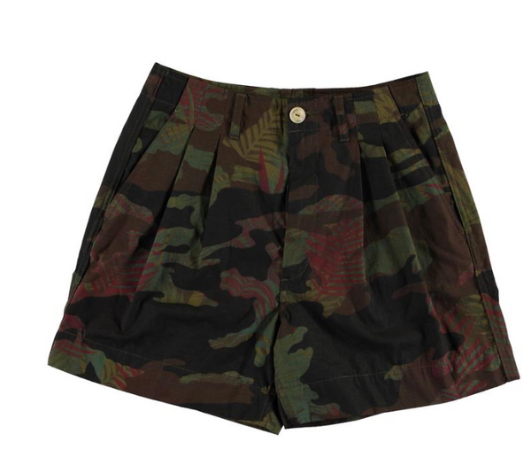 GIRLS OF DUST G.O.D camo summer shorts, high waisted cotton printed shorts