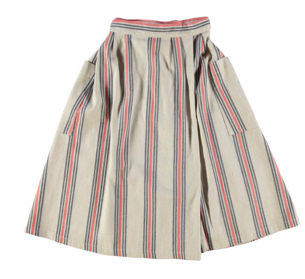 WOMEN'S PRAIRY SKIRT PRISONER STRIPE, skirt, Eat Dust, Mr Mullan's General Store, [variant_title], [option1], [option2], [option3]. We recommend using the default value. Default value is: WOMEN'S PRAIRY SKIRT PRISONER STRIPE - Mr Mullan's General Store