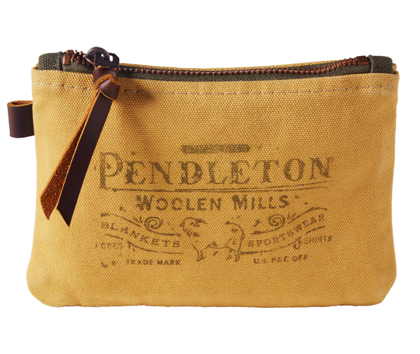 buy pendleton in kingston, buy pendleton in soho, pendleton zip pouch, cotton canvas pouch, mens gift, made in usa