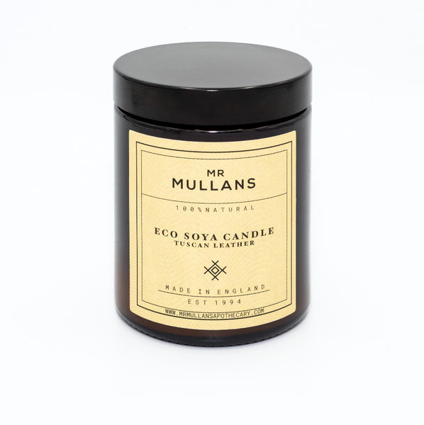 MR MULLAN'S SCENTED CANDLES (four scents available) 200g, candle, Mr Mullan's Apothecary, Mr Mullan's General Store, Tuscan Leather, Tuscan Leather, [option2], [option3]. We recommend using the default value. Default value is: MR MULLAN'S SCENTED CANDLES (four scents available) 200g - Mr Mullan's General Store