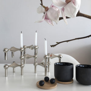 STOFF CANDLE HOLDER - CHROME