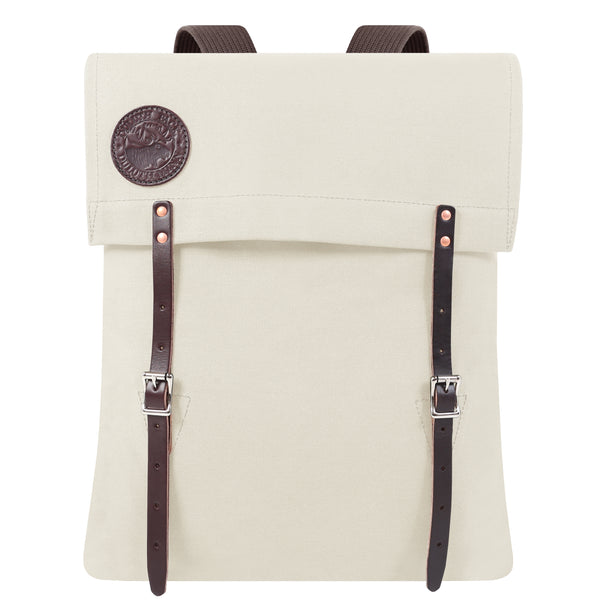 Cream Men's Backpack. Men's backpack in off white Duluth pack. hARD WEARING MAN BAG. bag made from Canvas and Leather. Travel Bag. Bag for adventurer. Rowing Bag
