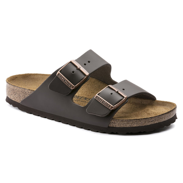 Brown leather birkenstock sandal. Regular fit. Arizona BS natural leather