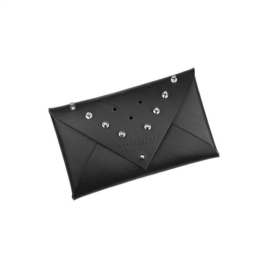 LEATHER ENVELOPE CLUTCH -  STUDDED SMALL