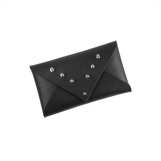 LEATHER ENVELOPE CLUTCH - PART STUDDED SMALL