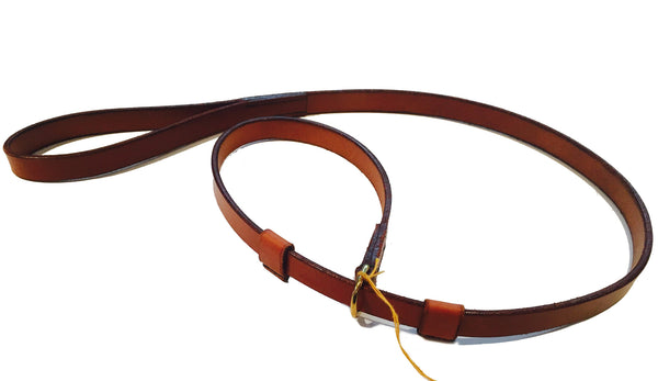 DOG'S SLIP LEAD - BROWN LEATHER