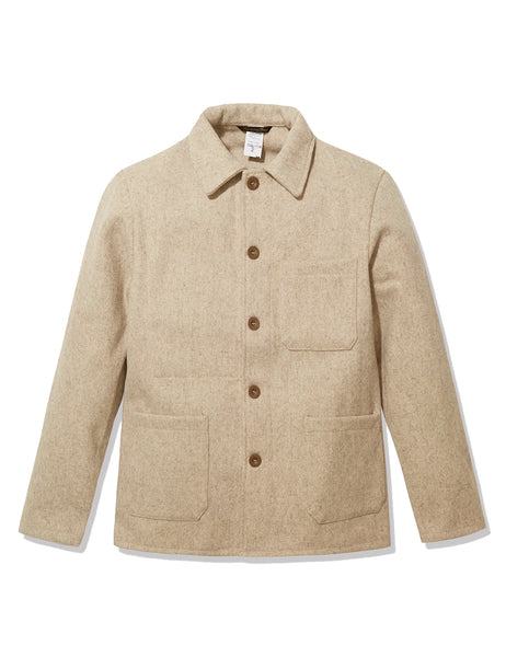 FRENCH WORK WEAR JACKET - WOOL ECRU