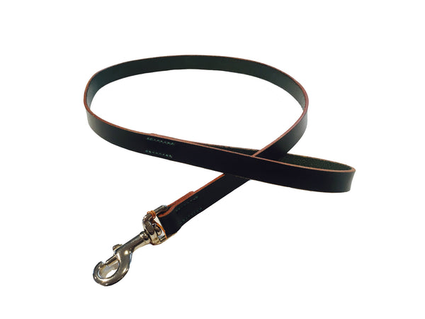 DOG LEAD - LEATHER - DARK GREEN