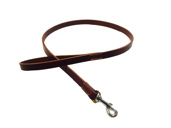 DOG LEAD - DARK BROWN LEATHER - 1M