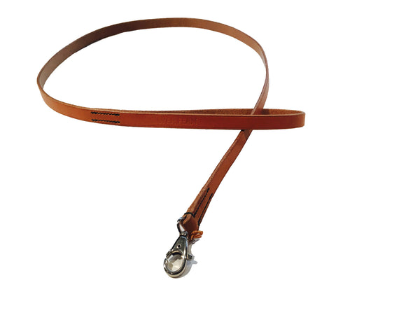 DOG LEAD - TAN LEATHER - 1M