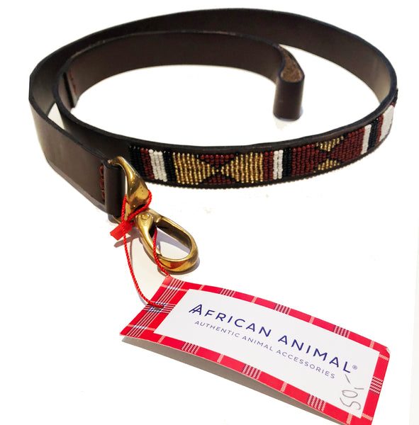 AFRICAN ANIMAL DOG GOLD LEAD