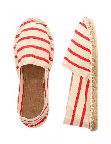 CLASSIC STRIPE ESPADRILLES - ARMOR-LUX, Shoe, Armor lux, Mr Mullan's General Store, 37 / Classic Red & Cream, 37, Classic Red & Cream, [option3]. We recommend using the default value. Default value is: CLASSIC STRIPE ESPADRILLES - ARMOR-LUX - Mr Mullan's General Store