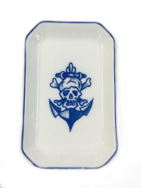 Mutti hand painted porcelain trinket tray