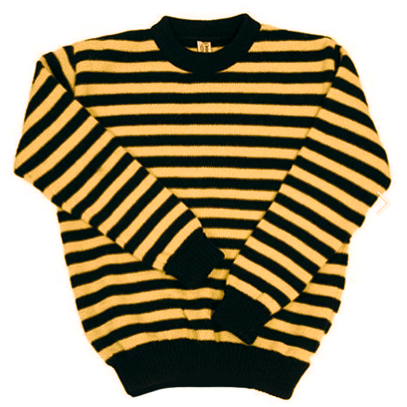 JAIL HOUSE STRIPE (two colours available), clothing, Heimat, Mr Mullan's General Store, Black & Mustard / xs, Black & Mustard, xs, [option3]. We recommend using the default value. Default value is: JAIL HOUSE STRIPE (two colours available) - Mr Mullan's General Store