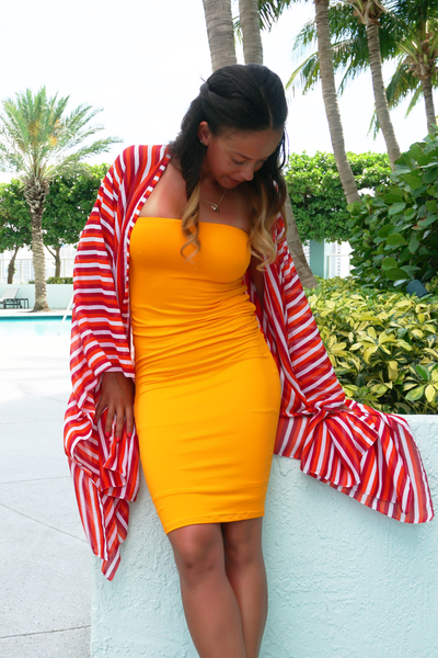 Orange & Red Short Robe