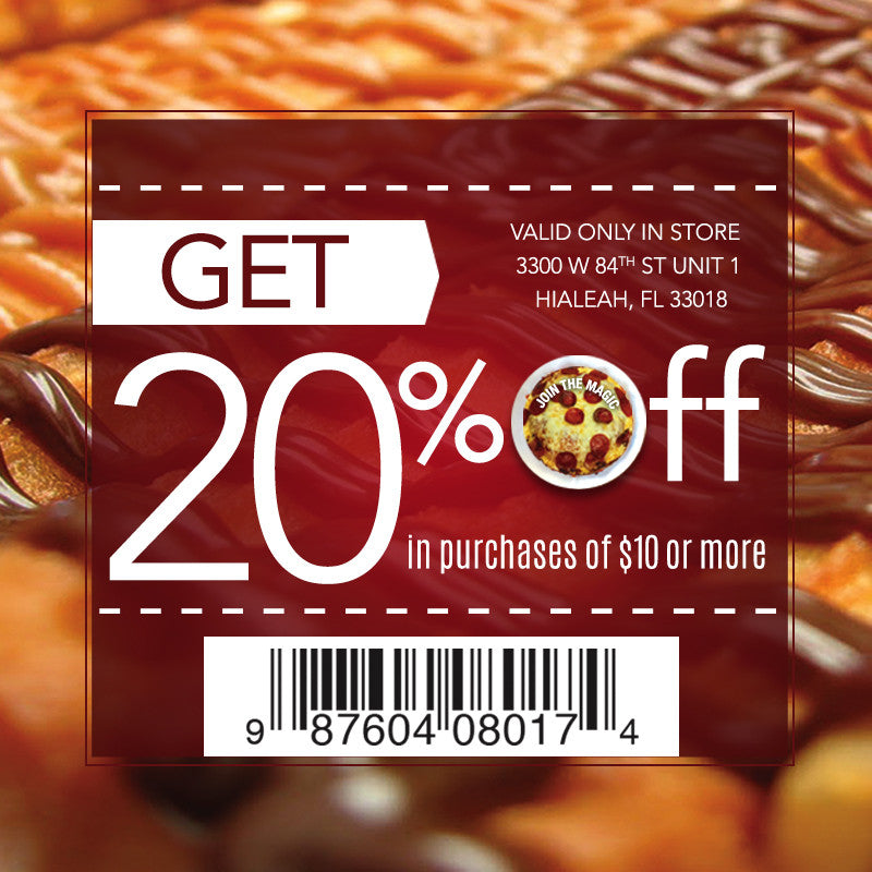 20% off on $10 purchases or more