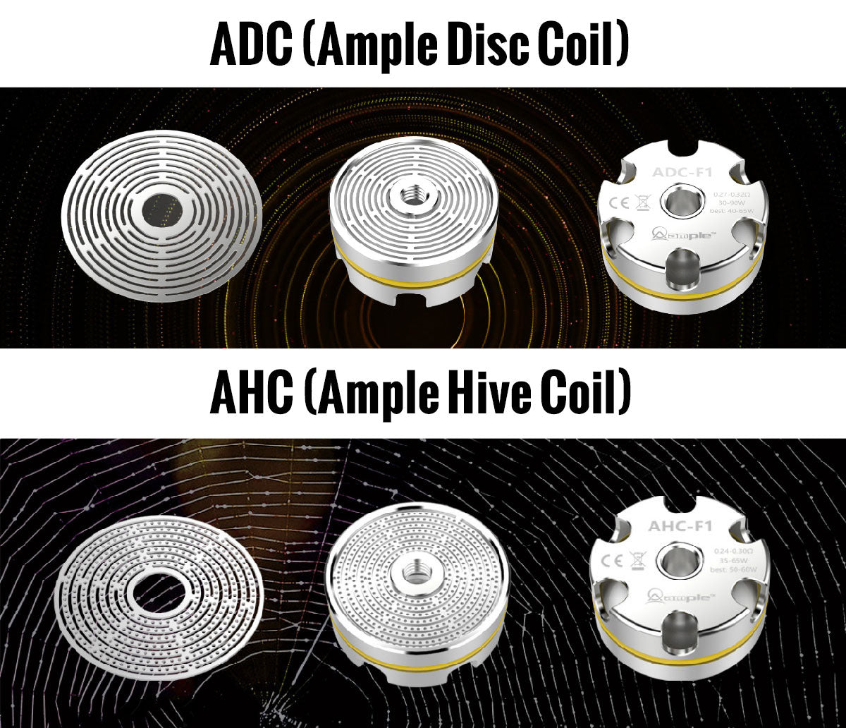 Ample Mace Sub Ohm Tank ADC/AHC Coil