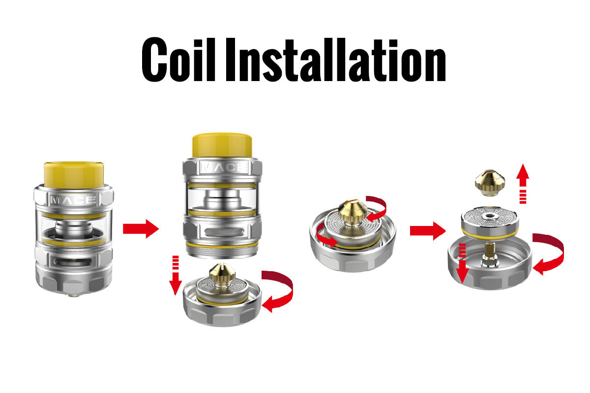 Ample Mace Sub Ohm Tank Coil Installation