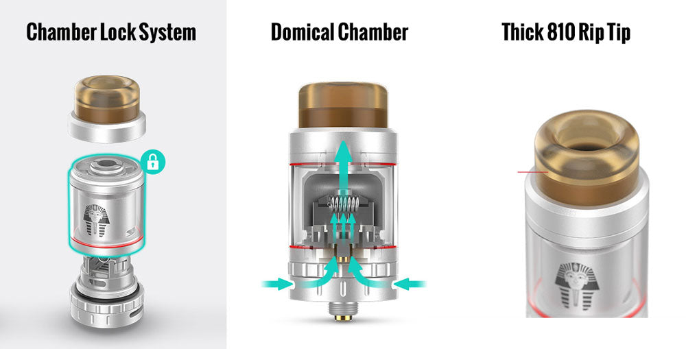 Digiflavor Pharaoh Mini RTA By Rip Trippers Chamber Lock System