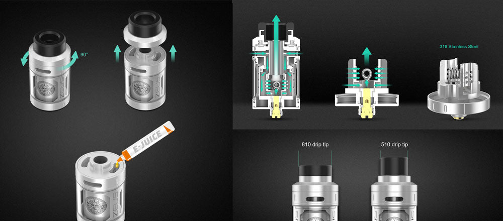 GeekVape Zeus RTA Tank 4.0ml Features