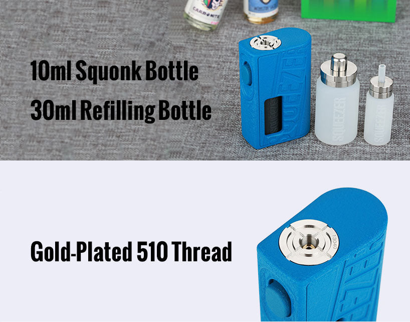 Hugo Vapor Squeezer BF Squonk Mech Mod with N RDA Kit Features