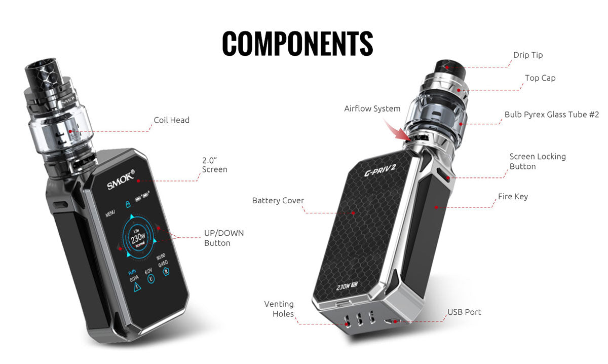 SMOK G-Priv 2 Luxe Edition with TFV12 Prince Kit Details