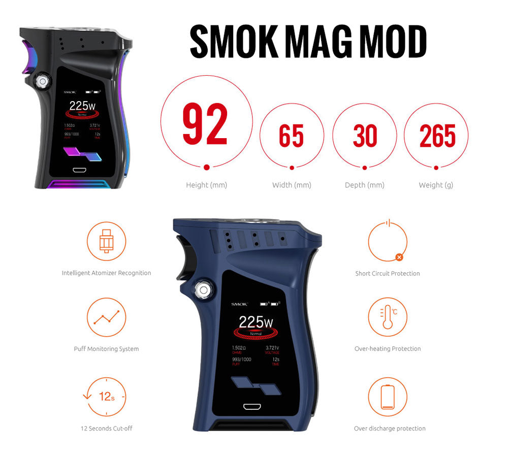 SMOK MAG 225W TC Box Mod Review