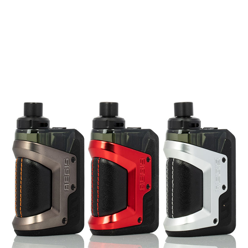 GeekVape Aegis Hero Pod Mod Kit Gunmetal Red Silver