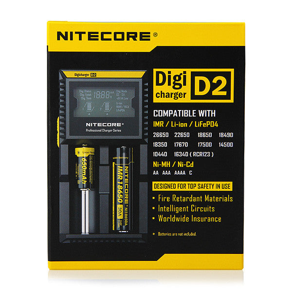 Nitecore Intellicharger D2 LCD Smart Battery Charger