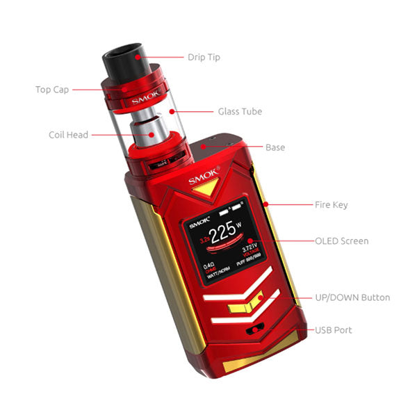 SMOK_Veneno_225W_TC_Mod_with_TFV8_Big_Baby_Light_Edition_Kit_components