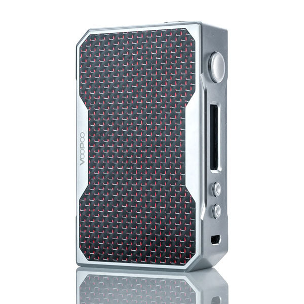 VooPoo_DRAG_157W_TC_Box_Mod_Silver_Red_Carbon_Fiber