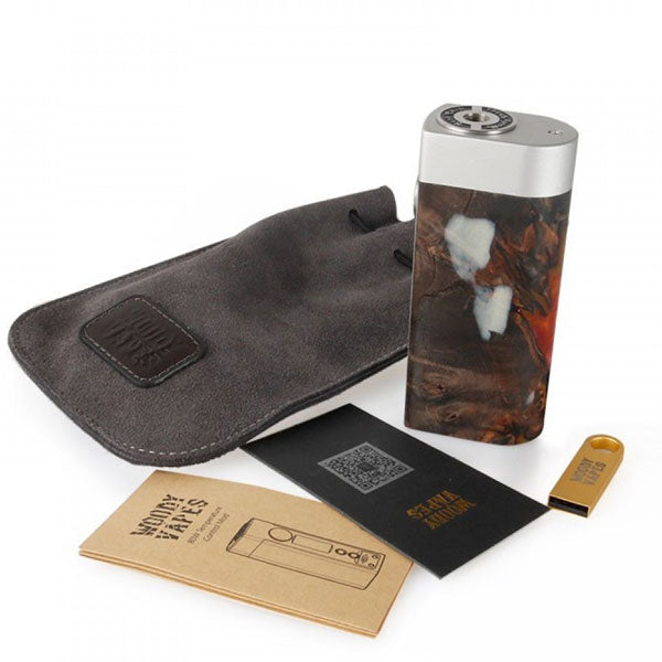 Woody Vapes S3 80W Stabilized Wood TC Box Mod