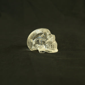 One of a Kind Hand Carved Brazilian Quartz crystal skull (#12) (260 grams)