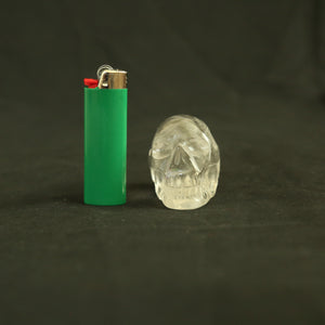 One of a Kind Hand Carved Brazilian Quartz crystal skull (#7) (208 grams)