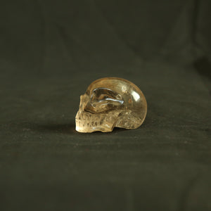 One of a Kind Hand Carved Brazilian Smoky Quartz crystal skull (#11) (206 grams)