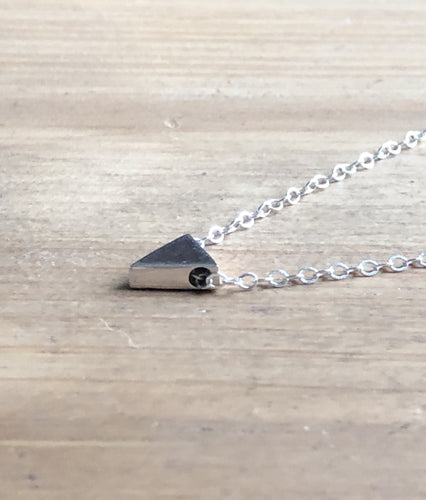 Mini Sterling Triangle Necklace