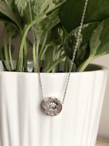 Pet Paw Stamped Necklace