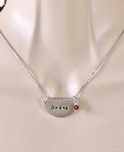 Half Circle Stamped Necklace