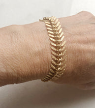 Fishbone Satin Hamilton Gold Bracelet