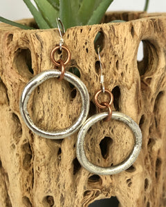 Amber Frontal Hoop Earrings