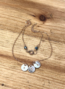 Personalized Tiny Gold Disc Necklace