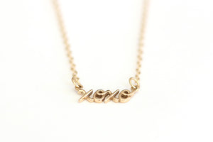 Hug & Kiss Necklace