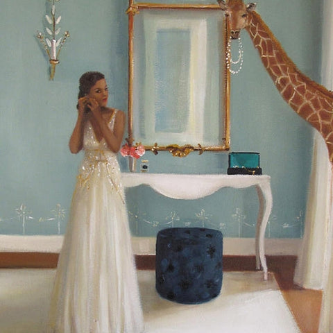 """lady in waiting"" print by janet hill"