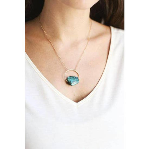 chrysocollo gold necklace