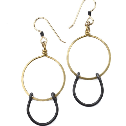 small circle gold earrings