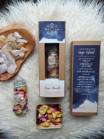love and light sage bundle kit
