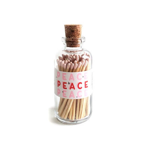 peace glass jar matches