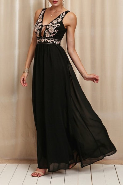 grace embroidered formal dress