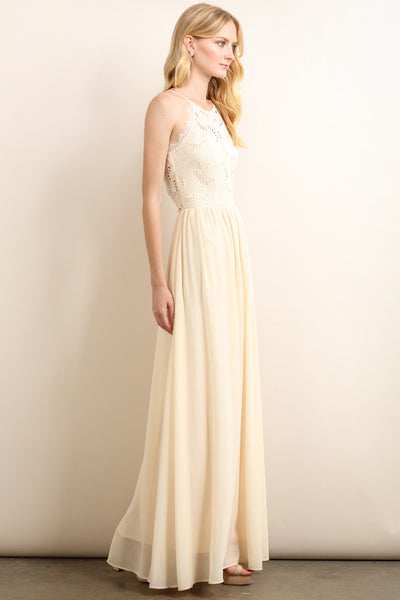 eva cream formal dress