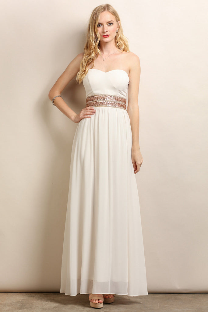 white and gold jocelyn dress